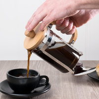 Acopa 20 oz. Glass / Wood French Coffee Press
