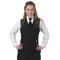Henry Segal Women's Customizable Black Extended Length Basic Server Vest - 2XS