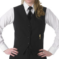 Henry Segal Women's Customizable Black Basic Server Vest - 4XL