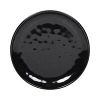 Elite Global Solutions D7006 Ming 6 inch Round Black Melamine Plate - 6/Case