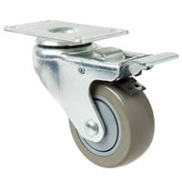 Baker's Mark 3 inch Swivel Plate Caster with Brake