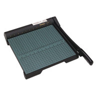 Premier W12 12 inch x 12 1/2 inch 20 Sheet GreenBoard Paper Trimmer with Wood Base