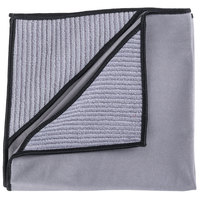 Unger MN40U Ninja MicroWipe 16 inch x 16 inch Gray and Black Premium Microfiber Cleaning Cloth - 5/Pack