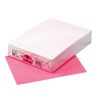 Pacon 102206 Kaleidoscope 8 1/2 inch x 11 inch Hyper Pink Ream of 24# Multi-Purpose Paper - 500 Sheets