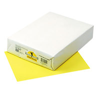Pacon 102055 Kaleidoscope 8 1/2 inch x 11 inch Lemon Yellow Ream of 24# Multi-Purpose Paper - 500 Sheets