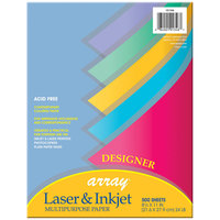 Pacon 101346 Array 8 1/2 inch x 11 inch Assorted Designer Color Ream of 24# Multi-Purpose Paper - 500 Sheets