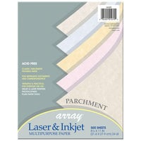 Pacon 101079 Array 8 1/2 inch x 11 inch Assorted Parchment Color Ream of 24# Multi-Purpose Paper - 500 Sheets