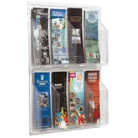Aarco LRC108 21 inch x 21 inch Clear-Vu 8-Pocket Pamphlet Display