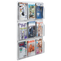 Aarco LRC101 30 inch x 37 inch Clear-Vu 9-Pocket Magazine Display