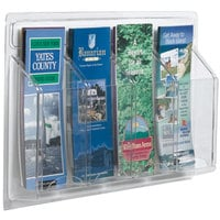 Aarco LRC121 21 inch x 11 inch Clear-Vu 4-Pocket Pamphlet Display
