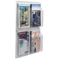 Aarco LRC104 21 inch x 25 inch Clear-Vu 4-Pocket Magazine Display