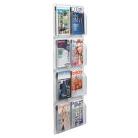 Aarco LRC115 21 inch x 49 inch Clear-Vu 8-Pocket Magazine Display