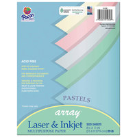 Pacon 101058 Array 8 1/2 inch x 11 inch Assorted Pastel Color Ream of 20# Multi-Purpose Paper - 500 Sheets