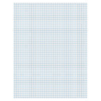 Pacon 2411 8 1/2 inch x 11 inch White 1/4 inch Quadrille Ruling Ream of 16# Composition Paper - 500 Sheets