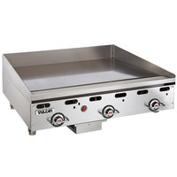 Vulcan MSA36-C0100P 36 inch Countertop Natural Gas Griddle with Rapid Recovery Plate and Piezo Ignition - 81,000 BTU