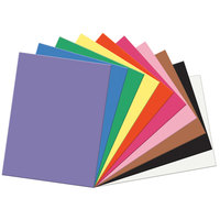 "SunWorks 6517 18"" x 24"" Assorted Color Pack of 58# Construction Paper - 50 Sheets"