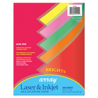 Pacon 101105 Array 8 1/2 inch x 11 inch Assorted Bright Color Ream of 24# Multi-Purpose Paper - 500 Sheets
