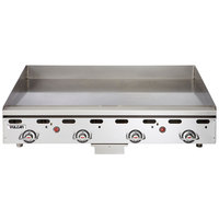 Vulcan MSA48-C0100P 48 inch Countertop Natural Gas Griddle with Rapid Recovery Plate and Piezo Ignition - 108,000 BTU