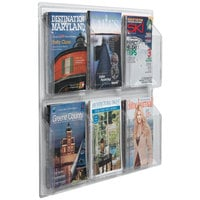 Aarco LRC103 30 inch x 25 inch Clear-Vu 6-Pocket Magazine Display