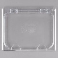 Carlisle 10238Z07 StorPlus EZ Access 1/2 Size Clear Polycarbonate Hinged Lid with Two Handles