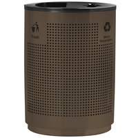 Commercial Zone 782438 Precision Grand Recycler 40 Gallon Brown Stainless Steel Trash / Recycling Receptacle
