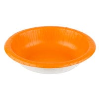 Creative Converting 173282 20 oz. Sunkissed Orange Paper Bowl - 20/Pack