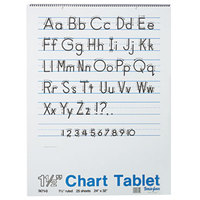 "Pacon 74710 24"" x 32"" White Ruled Chart Tablet with Manuscript Cover"