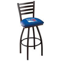 Holland Bar Stool L01430NYRang New York Rangers Swivel Stool with Ladder Back and Padded Seat