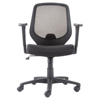 OIF CD4218 Black Mesh Mid-Back Swivel / Tilt Chair with Arms