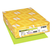 Astrobrights 21859 8 1/2 inch x 11 inch Vulcan Green Ream of 24# Color Paper - 500 Sheets