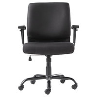 OIF BT4510 Black Big and Tall Fabric Swivel / Tilt Chair with Arms