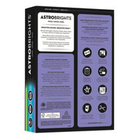 Astrobrights 20274 8 1/2 inch x 11 inch Assorted Cool Color Ream of 24# Color Paper - 500 Sheets
