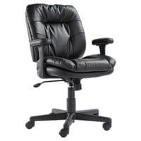 OIF ST4819 Black Executive Soft Leather Swivel / Tilt Chair with Arms