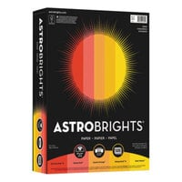 Astrobrights 20272 8 1/2 inch x 11 inch Assorted Warm Color Ream of 24# Color Paper - 500 Sheets