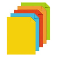 Astrobrights 22998 8 1/2 inch x 11 inch Assorted Color Case of 24# Color Paper - 1250 Sheets