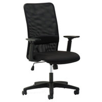 OIF SM4117 Black Mesh High-Back Chair with Arms