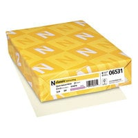 Neenah 06531 Classic 8 1/2 inch x 11 Natural White Ream of 24# Laid Copy Paper - 500 Sheets
