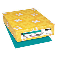 Astrobrights 21849 8 1/2 inch x 11 inch Terrestrial Teal Ream of 24# Color Paper - 500 Sheets