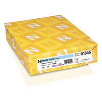 Neenah 01345 Classic Crest 8 1/2 inch x 11 inch Natural White Ream of 24# Copy Paper - 500 Sheets