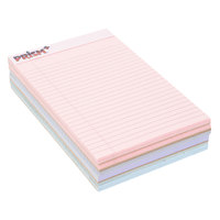TOPS 63016 Prism+ 5 inch x 8 inch Narrow Ruled Assorted Color Perforated Legal Pad - 6/Pack