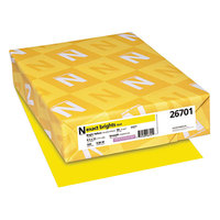 Neenah 26701 Exact Brights 8 1/2 inch x 11 inch Bright Yellow Ream of 20# Copy Paper - 500 Sheets