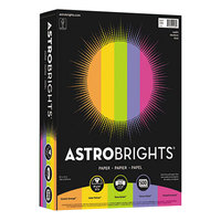 Astrobrights 21289 8 1/2 inch x 11 inch Assorted Happy Color Ream of 24# Color Paper - 500 Sheets