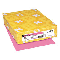 Astrobrights 21031 8 1/2 inch x 11 inch Pulsar Pink Ream of 24# Color Paper - 500 Sheets