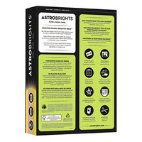 Astrobrights 20270 8 1/2 inch x 11 inch Assorted Neon Color Ream of 24# Color Paper - 500 Sheets