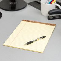 TOPS 7532 8 1/2 inch x 11 3/4 inch Wide Ruled Canary Perforated Legal Pad - 12/Pack