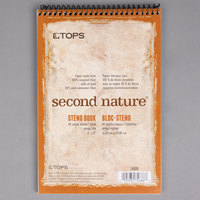 TOPS 74688 Second Nature 6 inch x 9 inch Gregg Ruled White Wirebound Steno Pad with Assorted Color Cover   - 12/Pack