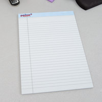 TOPS 63120 Prism+ 8 1/2 inch x 11 3/4 inch Wide Ruled Blue Perforated Legal Pad - 12/Pack