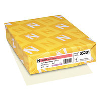 Neenah 05201 Classic 8 1/2 inch x 11 Natural White Ream of 24# Linen Copy Paper - 500 Sheets