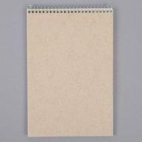 Ampad 25-274 6 inch x 9 inch Gregg Ruled Green Tinted Wirebound Steno Pad - 12/Pack