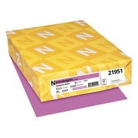 Astrobrights 21951 8 1/2 inch x 11 inch Outrageous Orchid Pack of 65# Smooth Color Paper Cardstock - 250 Sheets